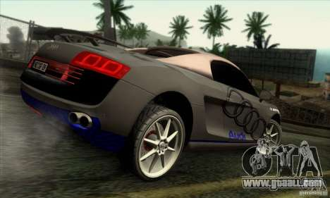 Audi R8 Spyder Tunable for GTA San Andreas side view