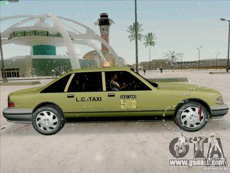 HD Taxi SA from GTA 3 for GTA San Andreas back left view