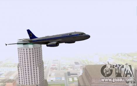 Airbus A-319 Azerbaijan Airlines for GTA San Andreas bottom view