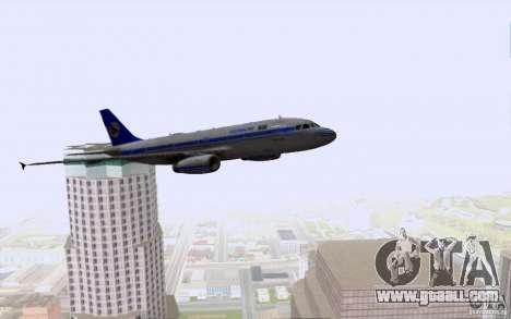 Airbus A-319 Azerbaijan Airlines for GTA San Andreas bottom view