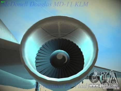McDonnell Douglas MD-11 KLM Royal Dutch Airlines for GTA San Andreas upper view