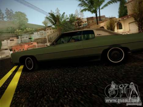 Chevrolet Impala 1972 for GTA San Andreas left view