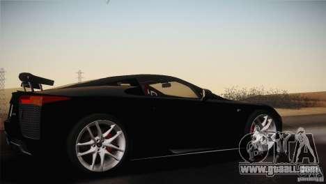 Lexus LFA (US-Spec) 2011 for GTA San Andreas right view