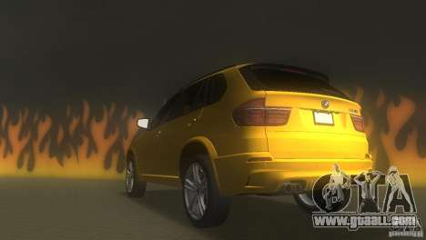 BMW X5 for GTA Vice City back left view