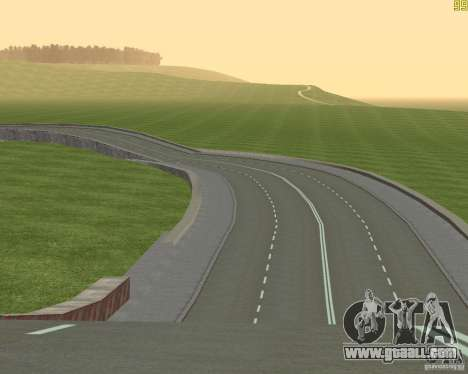 Finished building the road to Criminal Russia for GTA San Andreas forth screenshot