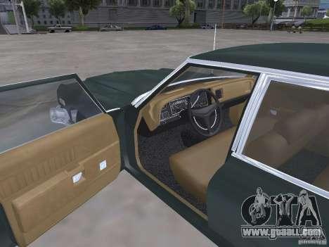 Dodge Monaco 1974 for GTA San Andreas inner view