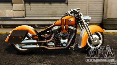 Harley Davidson Fat Boy Lo Vintage for GTA 4 left view