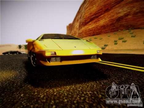 Lamborghini Diablo VT 1994 for GTA San Andreas back view