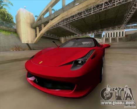 Ferrari 458 Italia V12 TT Black Revel for GTA San Andreas right view