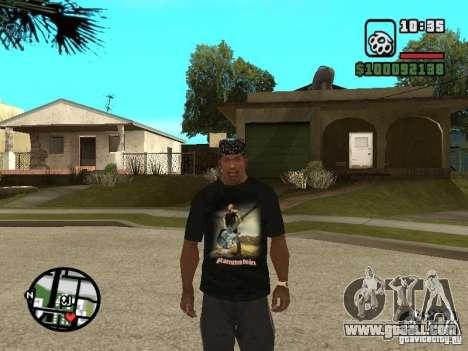 Rammstein t-shirt v1 for GTA San Andreas third screenshot