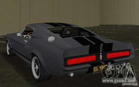 Shelby GT500 Eleanor for GTA Vice City back left view