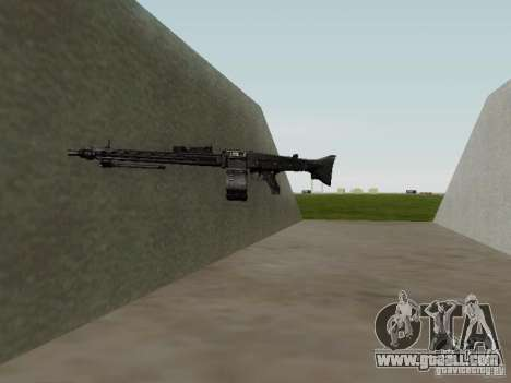 The MG-42 machine gun for GTA San Andreas fifth screenshot
