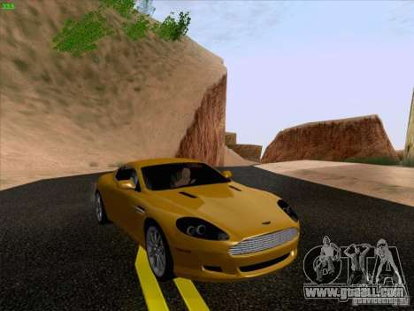 Aston Martin DB9 for GTA San Andreas back view