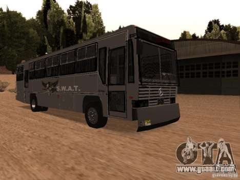 Mercedes Benz SWAT Bus for GTA San Andreas right view
