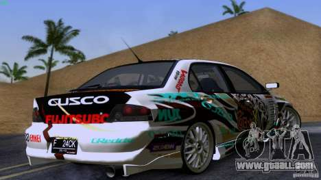 Mitsubishi Lancer Evolution 8 for GTA San Andreas right view