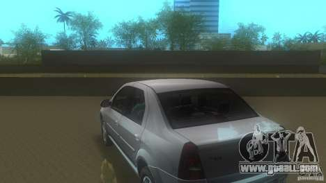Dacia Logan for GTA Vice City back left view