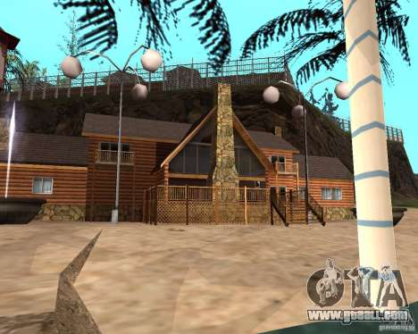 Villa in the fishing lagoon for GTA San Andreas sixth screenshot