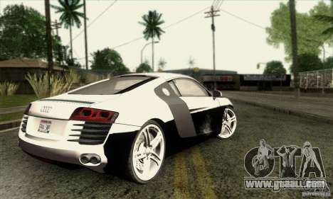 Audi R8 for GTA San Andreas side view