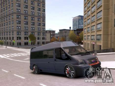 Ford Transit Sport Edition RV 2013 for GTA 4 back view
