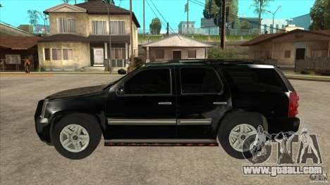 GMC Yukon Unmarked FBI for GTA San Andreas left view