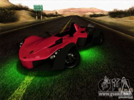 BAC MONO for GTA San Andreas inner view