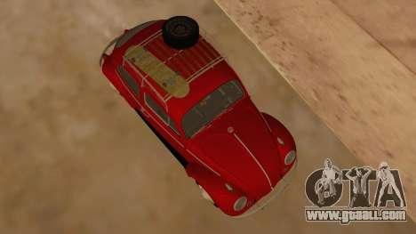 VW Beetle 1966 for GTA San Andreas inner view