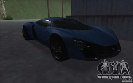 Marussia B2 2010 for GTA San Andreas back view