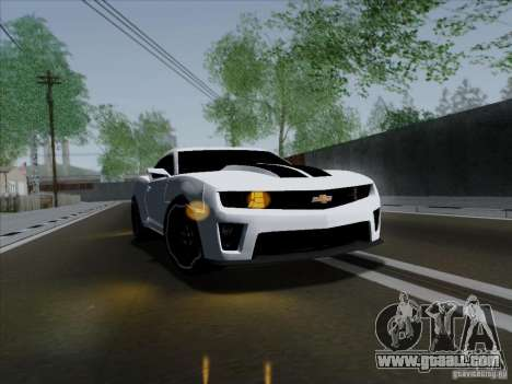Chevrolet Camaro ZL1 2012 for GTA San Andreas right view