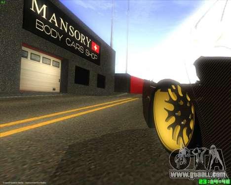 Honda Accord Mansory for GTA San Andreas back view