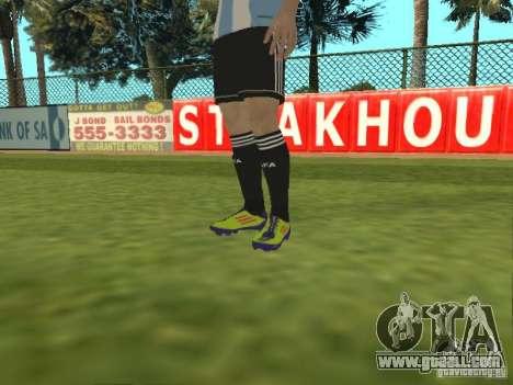 Lionel Messi for GTA San Andreas fifth screenshot