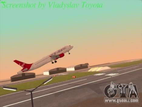 Airbus A320-211 Virgin Atlantic for GTA San Andreas right view