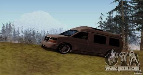 GMC Savana AWD for GTA San Andreas left view