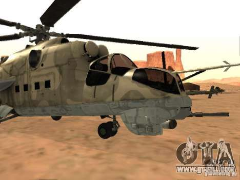 Mi-24 p for GTA San Andreas left view