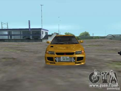 Mitsubishi Lancer Evolution III for GTA San Andreas back view
