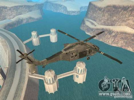 The UH-60 from COD MW3 for GTA San Andreas back left view