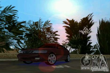Saab 9-3 Aero 3-door 1999 for GTA Vice City left view