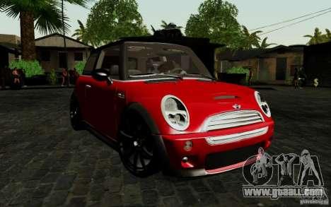 Mini Cooper S Tuned for GTA San Andreas left view