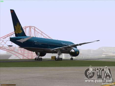Boeing 777-2Q8ER Vietnam Airlines for GTA San Andreas bottom view