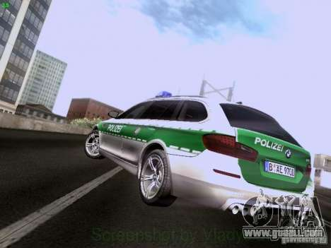 BMW M5 Touring Polizei for GTA San Andreas back left view