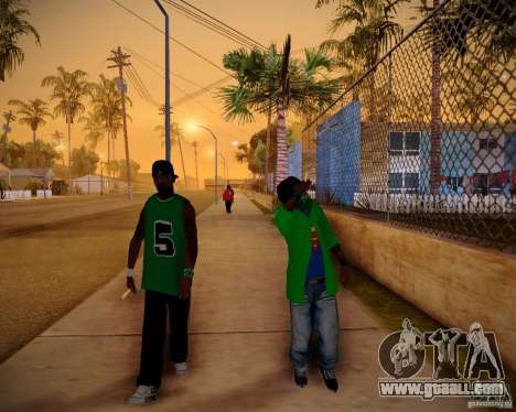 Skins pack gang Grove for GTA San Andreas third screenshot