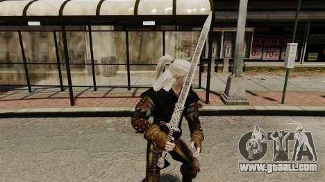 Sword of the Witcher v1 for GTA 4 second screenshot