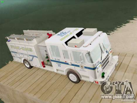 Pierce Pumpers. B.C.F.D. FIRE-EMS for GTA San Andreas back view