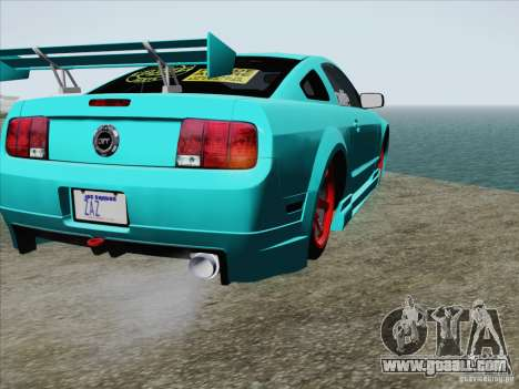 Ford Mustang GT Lowlife for GTA San Andreas upper view
