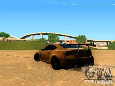 Toyota FT86 Rocket Bunny V2 for GTA San Andreas back left view
