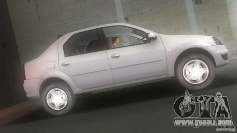 Dacia Logan for GTA Vice City left view