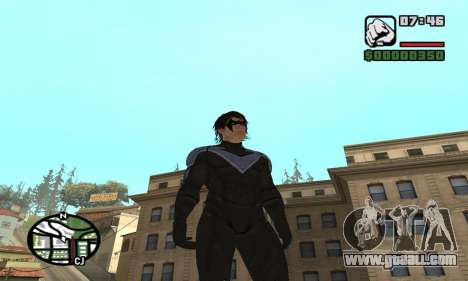 Nightwing skin for GTA San Andreas second screenshot