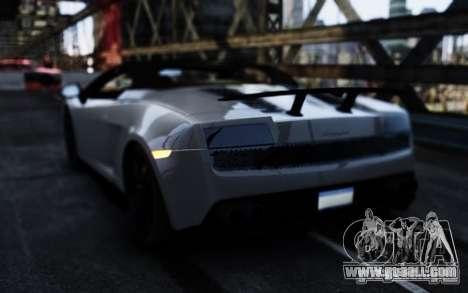 Lamborghini Gallardo LP570-4 Spyder for GTA 4 back left view
