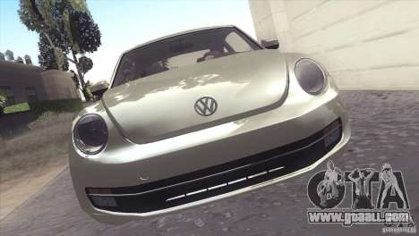 Volkswagen Beetle Turbo 2012 for GTA San Andreas back view