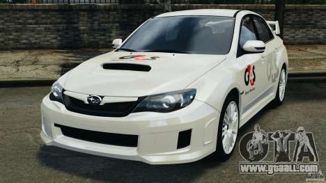 Subaru Impreza WRX STi 2011 G4S Estonia for GTA 4 back left view