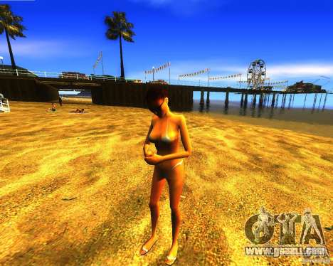 Salvation of man on the beach for GTA San Andreas third screenshot